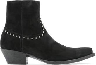Saint Laurent Lukas Studded Ankle Boots