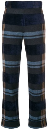 D-Exterior Cropped Checked Trousers