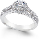 Marchesa Certified Diamond Halo Ring (1 ct. t.w.) in 18k White Gold