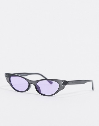 SVNX cat eye sunglasses with purple lens