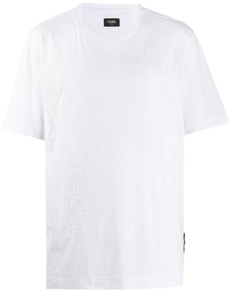 Fendi shaded-effect FF motif T-shirt