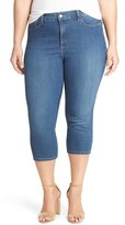 NYDJ 'Ariel' Stretch Denim Crop Jeans (Cleveland) (Plus Size)