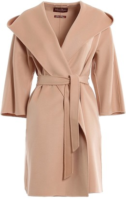 Max Mara Belted Hooded Coat