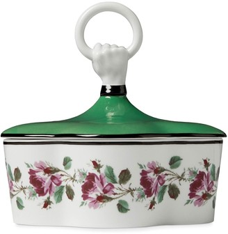 Gucci Rose print porcelain box with hand and ring
