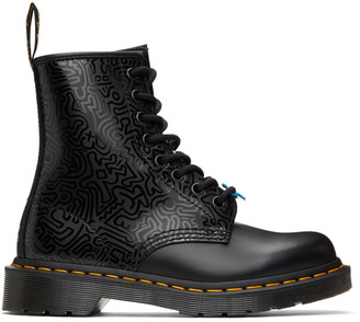 Dr. Martens Black Keith Haring Edition 1460 Boots