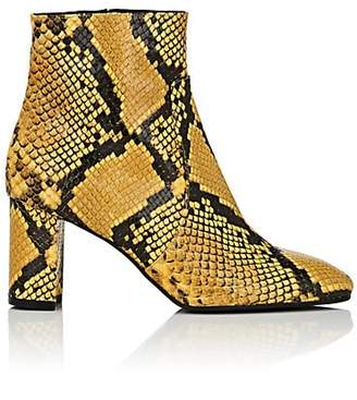 Barneys New York Women's Square-Toe Snakeskin Ankle Boots - Yellow