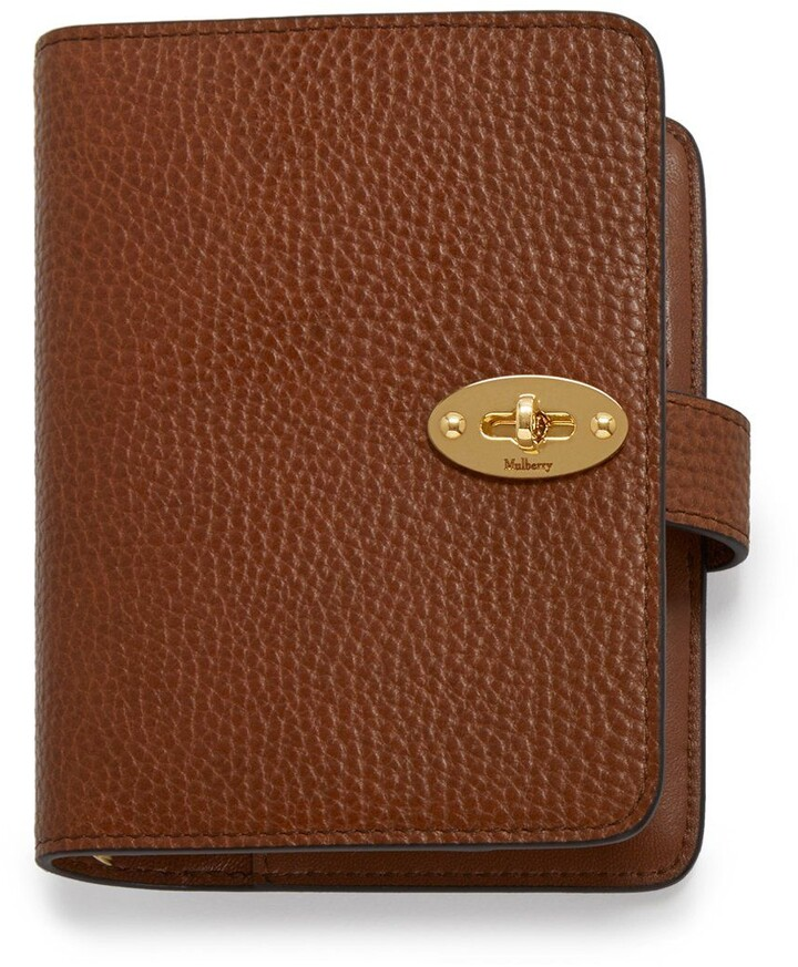 Mulberry Postman's Lock Pocket Book Oak Natural Grain Leather