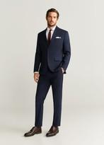 MANGO MAN - Slim fit Tailored cotton shirt white - XS - Men