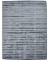 Solo Rugs Milo Hand Loomed Viscose Runner Area Rug, Gray, 2 x 10