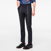 Paul Smith Men's Slim-Fit Navy Single-Stripe Wool Trousers