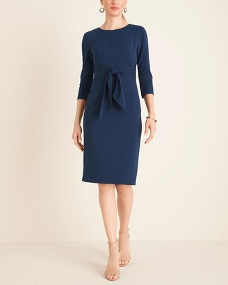 Adrianna Papell Tie-Waist Shift Dress