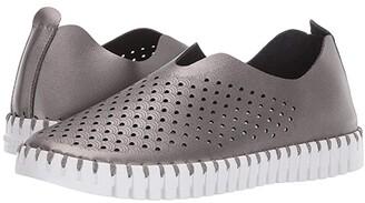 Ilse Jacobsen Tulip 3576 (Gunmetal) Women's Slip on Shoes