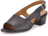 Gravati Leather Slingback Mid-Heel Sandal