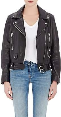 "Acne Studios Women's ""Mock"" Leather Moto Jacket - Black"