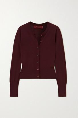 Sies Marjan Tahira Stretch-merino Wool Cardigan - Burgundy