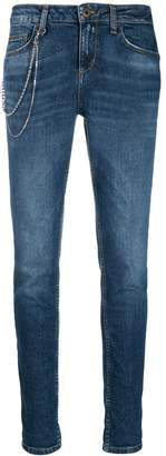 Liu Jo chain skinny tapered jeans
