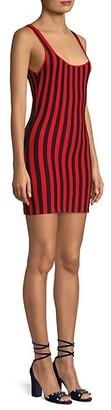 Victor Glemaud Striped Knit Mini Tank Dress