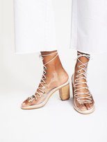 Free People Vinyl Minimal Lace-Up Heel
