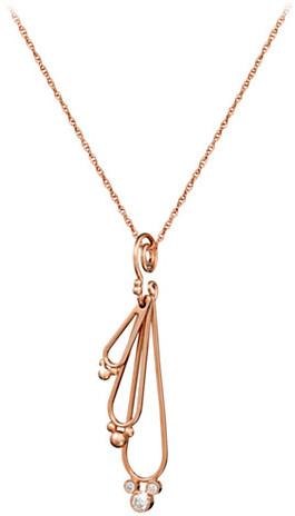 Disney Diamond Mickey Mouse Three Drop Necklace - 18K