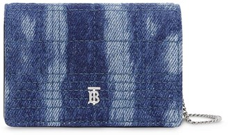 Burberry Quilted Denim Strap Card Case