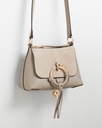 See by Chloe Women's Grey Leather bags - Joan Mini Hobo Cross-Body Bag - Size One Size at The Iconic