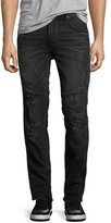 True Religion Racer Distressed Slim Tapered Jeans, Worn Nights