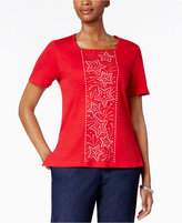 Alfred Dunner Lady Liberty Collection Star-Print Top