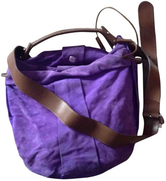 Marni Purple Suede Handbags