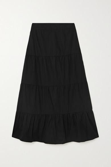 Faithfull The Brand Net Sustain Farida Cotton-poplin Midi Skirt