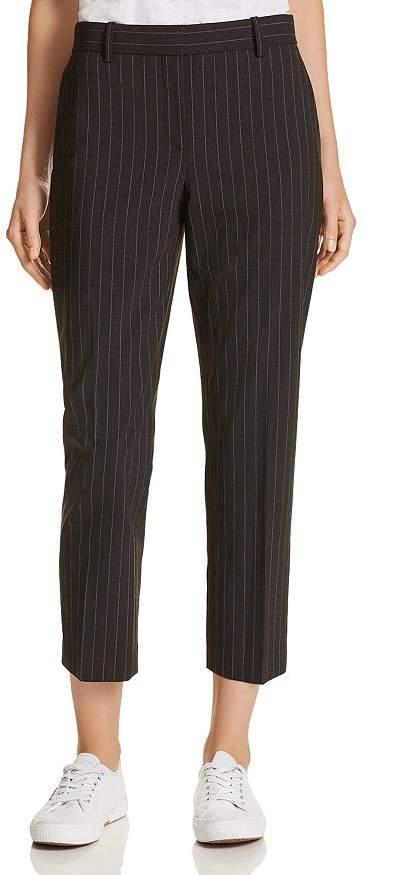 Theory Treeca 2 Cropped Pinstripe Pants