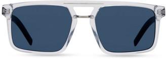Christian Dior BlackTie 54MM Rectangular Sunglasses