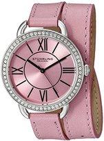 Stuhrling Original Women's 587.03 Deauville Analog Display Quartz Pink Watch