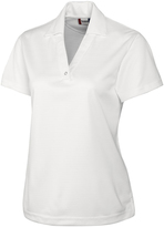 Clique White Sonoma Textured Performance Polo - Plus