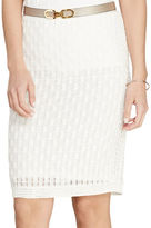 Lauren Ralph Lauren Honeycomb Cotton Pencil Skirt