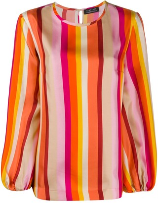 Gianluca Capannolo Silk Striped Print Blouse