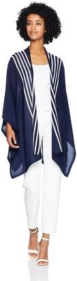 Anne Klein Women's Stripe Drape Cardigan