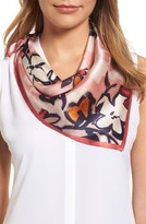 Halogen Women's Bloom Floral Silk Square Scarf