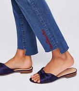 LOFT Modern Heartbreaker Step Hem Straight Leg Jeans in Original Mid Stonewash