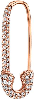 Anita Ko 18k Rose Gold Diamond Safety Pin Earring (Single)