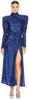 Raisa&Vanessa RAISA&VANESSA Sequined Maxi Dress in Cobalt Blue | FWRD