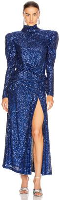 RAISA&VANESSA Sequined Maxi Dress in Cobalt Blue | FWRD