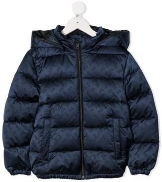 Herno Monogram Satin Puffer Coat