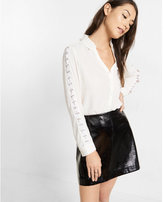 Express lace-up sleeve shirt