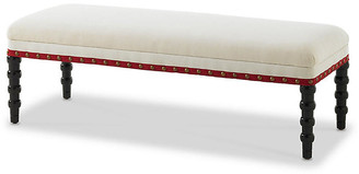 "Bunny Williams Home Red Tape 48"" Bench - Ebony"