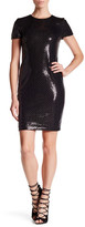 Nicole Miller Studded Stretch Sequin Cocktail Dress