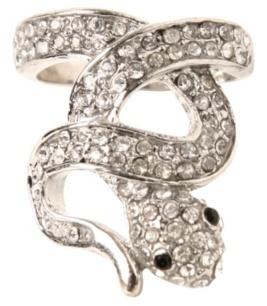Silver Snake Swirl Ring