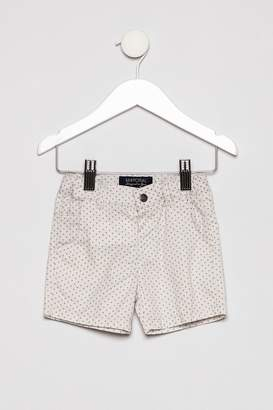 Mayoral Collar Shirt with Khaki Shorts Outfit