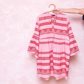 Devotion Geometric Print Dress - cotton | pink | Print | M . - Pink/Pink