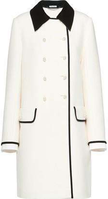 Miu Miu Two-Tone Double-Breasted Coat
