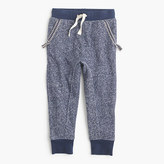 J.Crew Girls' lined sweatpant in marled cotton